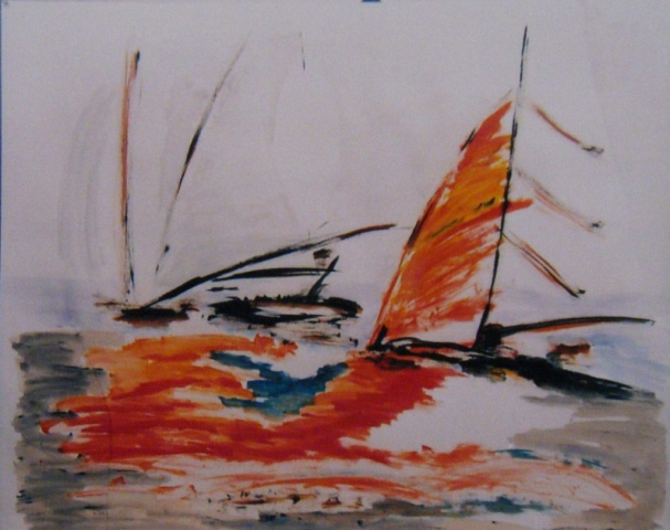 Sail in orange 150 x 120 cm